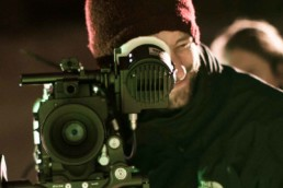 Director of Photography Chris Jones looking into Camera Behind the Scenes Film Production