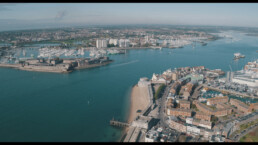 Portsmouth Harbour from the air